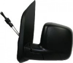 Fiat Qubo [08 on] Complete Cable Adjust Mirror Unit - Black